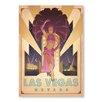"Americanflat Poster ""Las Vegas Show Girl"" von Anderson Design Group, Retro-Werbung"