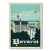 """Americanflat Poster """"Bavaria"""" von Anderson Design Group, Retro-Werbung"""