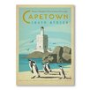 Americanflat Cape Town by Anderson Design Group Vintage Advertisement Wrapped on Canvas