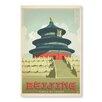 """Americanflat Leinwandbild """"Beijing"""" von Anderson Design Group, Retro-Werbung"""