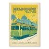 "Americanflat Poster ""Melbourne Trolley"" von Anderson Design Group, Retro-Werbung"