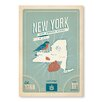Americanflat State Pride Print New York by Anderson Design Group Vintage Advertisement in Blue