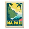 Americanflat Hawaii Na Pali by Anderson Design Group Vintage Advertisement Wrapped on Canvas