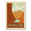 Americanflat National Park Vermillion by Anderson Design Group Vintage Advertisement in Orange