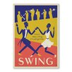Americanflat Swing Dancing by Music Festival Collection Vintage Advertisement