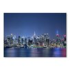 Americanflat Skyscrapers Night Blue by Lina Kremsdorf Photographic Print in Blue