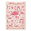 Americanflat Leinwandbild Flamingo, Retro Werbung