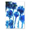 Americanflat Trees Blue by Suren Nersisyan Art Print in Blue