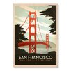 Americanflat Poster Golden Gate Bridge, Grafikdruck von Anderson Design Group