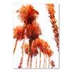Americanflat Trees by Suren Nersisyan Art Print in Orange