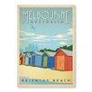 """Americanflat Leinwandbild """"Melbourne"""" von Anderson, Retro-Werbung"""