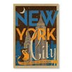 "Americanflat Poster ""NYC Night Owl"" von Anderson Design Group, Retro-Werbung"