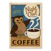"""Americanflat Poster """"Night Owl"""" von Anderson Design Group, Retro-Werbung"""