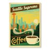 Americanflat Seattle Supreme Vintage Advertisement Wrapped on Canvas