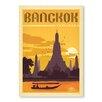 Americanflat Poster Bangkok, Retro-Werbung von Anderson Design Group in Gelb