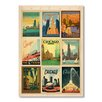 Americanflat 9-tlg. Poster-Set Chicago Multi Print II by Anderson Design Group, Retro-Werbung