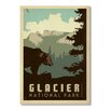 Americanflat Poster Glacier NP, Retro Werbung von Anderson Design Group in Grau