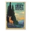 """Americanflat Poster """"Smoky Mountains"""" von Anderson Design Group, Grafikdruck"""