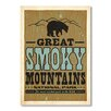 Americanflat Poster Smoky Mountains, Retro Werbung von Anderson Design Group in Beige