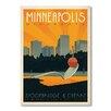 "Americanflat Poster ""Minneapolis II"" von Anderson Design Group, Retro-Werbung"