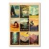 "Americanflat Poster ""NP Multi Print"" von Anderson Design Group, Retro-Werbung"