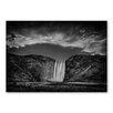 Americanflat Poster Waterfall, Fotodruck von Lina Kremsdorf in Grau