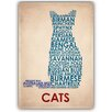 Americanflat Cats Typography Wrapped on Canvas