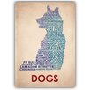 Americanflat Dogs Typography on Canvas