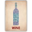 Americanflat Wine Typography Wrapped on Canvas