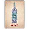 Americanflat Poster Wine, Typografische Kunst