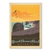 Americanflat Great Ocean Road by Anderson Design Group Vintage Advertisement Wrapped on Canvas