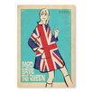 "Americanflat Poster ""Save the Queen"" von Anderson Design Group, Retro-Werbung"