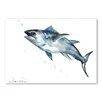 Americanflat Poster Fish, Grafikdruck von Suren Nersisyan in Grau