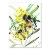 Americanflat Flower Bee II by Suren Nersisyan Art Print