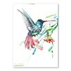 Americanflat Humming Bird and Flowers by Suren Nersisyan Art Print