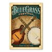 Americanflat Blue Grass by Music Festival Collection Vintage Advertisement