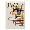Americanflat Poster Jazz Brassy 1950s, Grafikdruck von Music Festival Collection