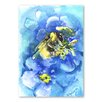Americanflat Bee by Suren Nersisyan Art Print in Blue