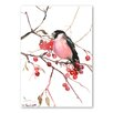 Americanflat Bullfinch by Suren Nersisyan Art Print in Red