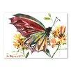 Americanflat Butterfly by Suren Nersisyan Art Print