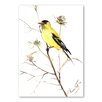 Americanflat Goldfinch V by Suren Nersisyan Art Print in Yellow