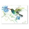 Americanflat Hummingbird with Flowers by Suren Nersisyan Art Print