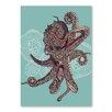 Americanflat Poster Octopus Bloom, Grafikdruck von Valentina Ramos