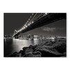 Americanflat Poster Bridge Night, Fotodruck von Lina Kremsdorf in Grau
