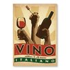 Americanflat Vino Italiano Vintage Advertisement Wrapped on Canvas