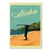 Americanflat Poster Aloha, Retro-Werbung von Diego Patino