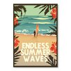 Americanflat Endless Summer Print Art Wave by Diego Patino Vintage Advertisement
