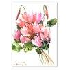 Americanflat Pink Flowers by Suren Nersisyan Art Print in Pink