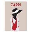 Americanflat Poster Capri Grafikdruck von Alan Walsh