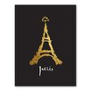 Americanflat City of Light Graphic Art Wrapped on Canvas